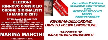 Marina Mancini candidata come revisore dei Conti ODG Sicilia